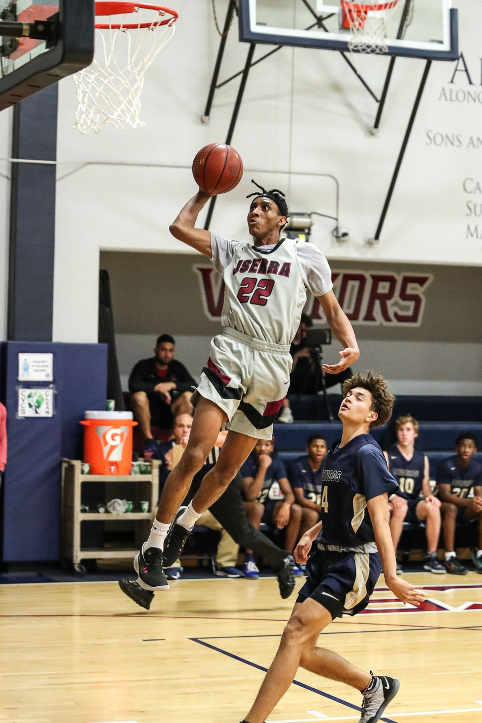 (Photo courtesy of William Palmer) JSerra Catholic High School forward Ian Martinez plays in a game in Santa Ana, Calif. The senior has committed to play at the University of Utah.