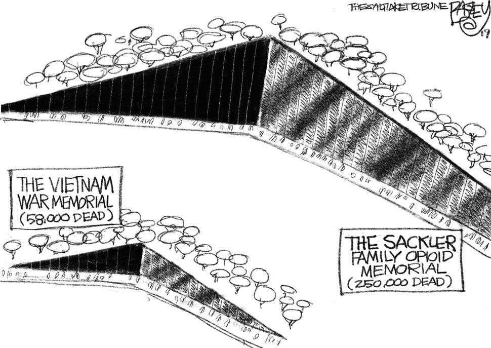 (Pat Bagley | The Salt Lake Tribune) This cartoon, titled Drug Lord, appears in The Salt Lake Tribune on Thursday, Sept. 19, 2019.