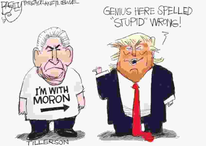 Bagley Cartoon: Trump IQ Test