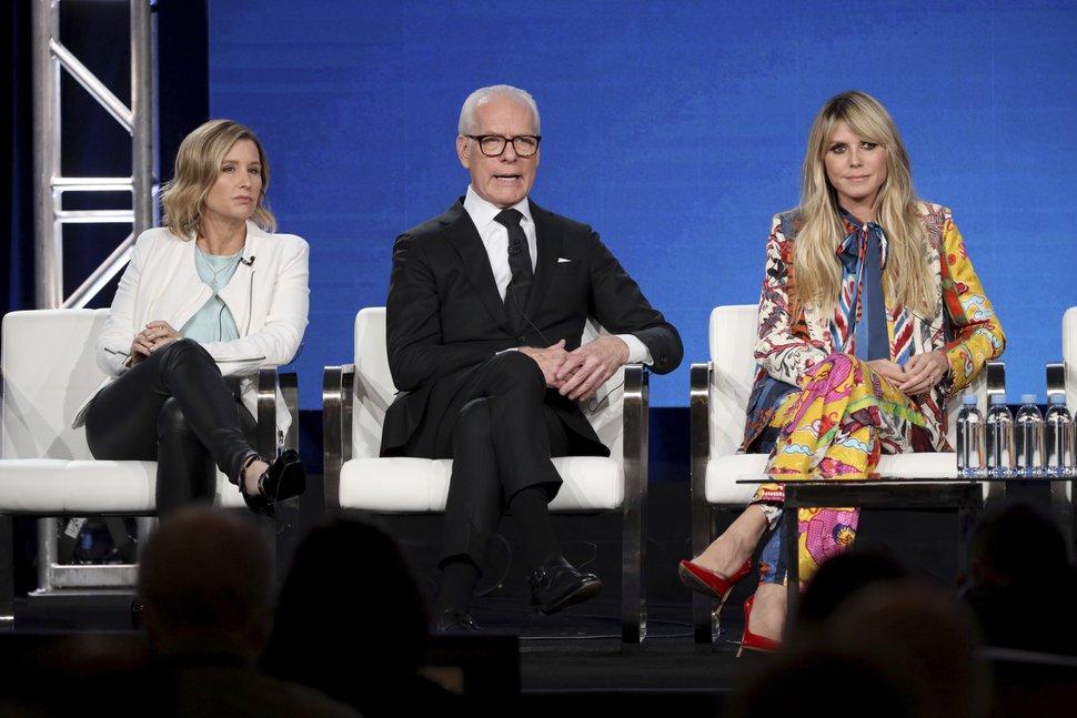 (Willy Sanjuan | Invision/AP) Sara Rea, left, Tim Gunn and Heidi Klum appear at the