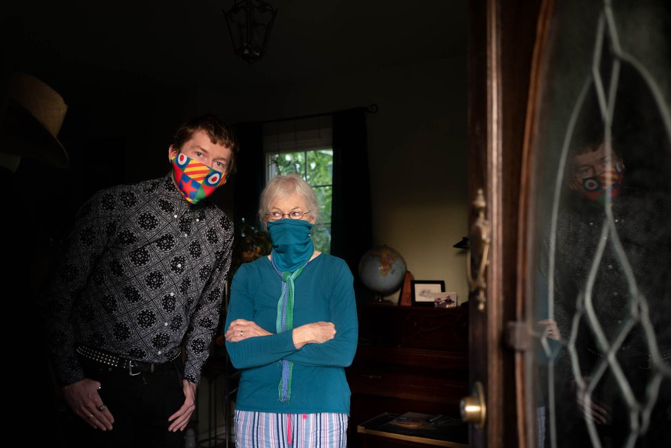 (Trent Nelson | The Salt Lake Tribune) Nick Kuzmack and his mother Frances Rowsell, pictured at their Salt Lake City home on Friday, Sept. 11, 2020, have been without power since Tuesday's high winds.