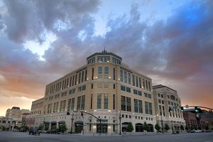 (Paul Fraughton  |  Tribune file photo) The Salt Lake Tribune office building at the Gateway mall.