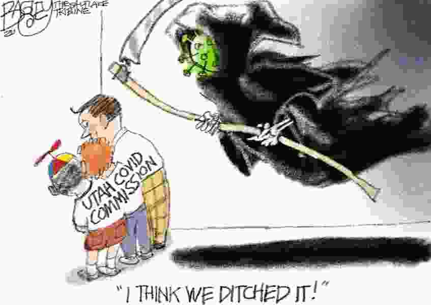 Bagley Cartoon: COVID Hide and Seek