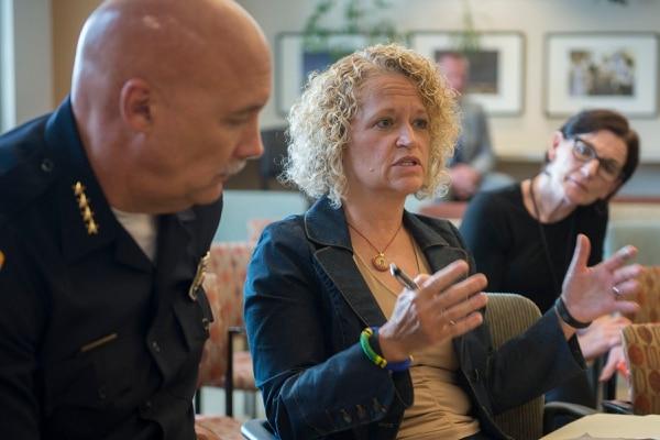(Jeremy Harmon | The Salt Lake Tribune) Salt Lake City Mayor Jackie Biskupski discusses