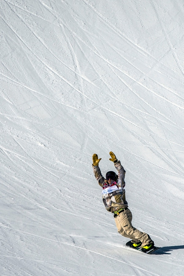 Chris Detrick | The Salt Lake Tribune Sage Kotsenburg, of Park City, competes in the Men's Slopestyle Finals at the Rosa Khutor Extreme Park during the 2014 Sochi Olympic Games Saturday February 8, 2014. Kotsenburg won the gold medal with a score of 93.50.