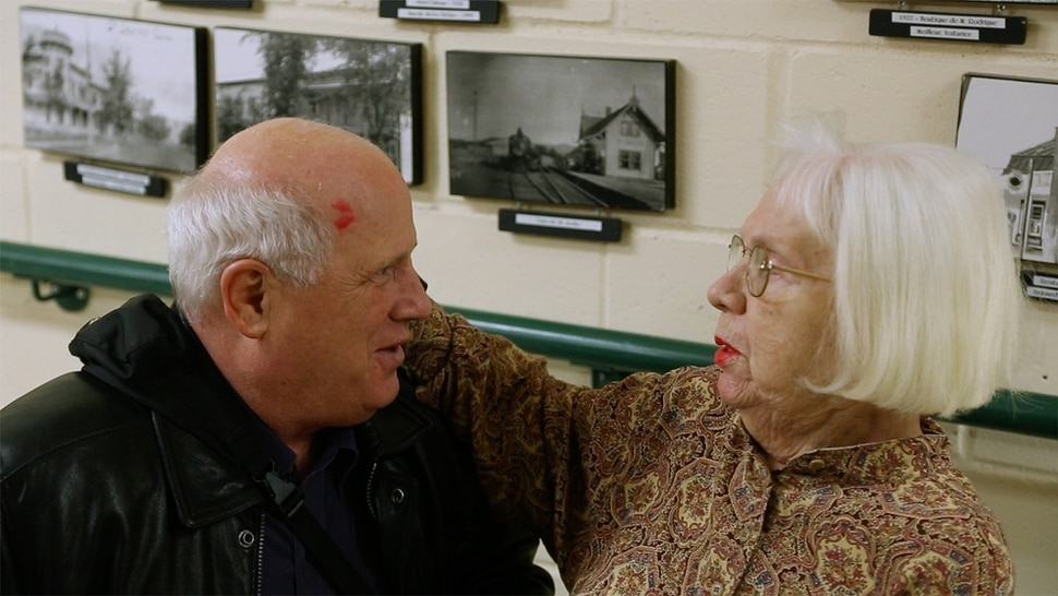 (Courtesy Music Box Films) Shep Shell, a blind man living in Winnpeg, meets Aida Zasadsinska, the mother he never knew, in a scene from the documentary