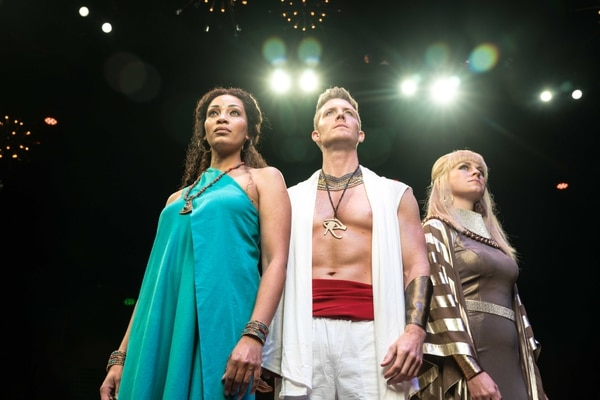 (Courtesy photo) Kandyce Marie as Aida, Casey Elliott as Radames, and Amy Shreeve Keeler as Amneris in Hale Centre Theatre's new production of
