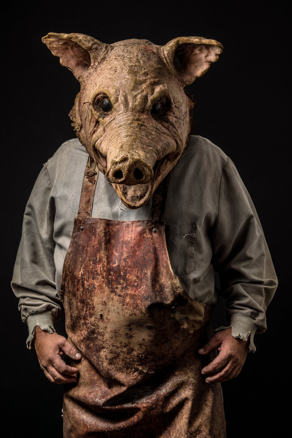 (Photo courtesy of Fear Factory) Butcher Pig is a character at Fear Factory, the haunted house just west of Salt Lake City. Actors are required to wear face masks, to prevent the spread of COVID-19, and the masks often are incorporated into the costumes.