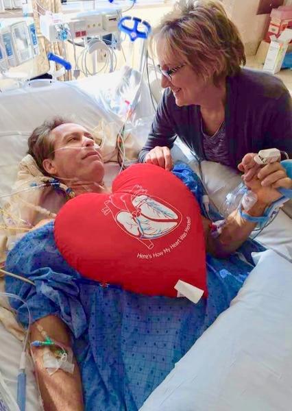 (Photo courtesy Joe Wren) Fox 13 sports reporter Joe Wren and his wife of 38 years, Nancy, following quadruple bypass open heart surgery at McKay-Dee Hospital.