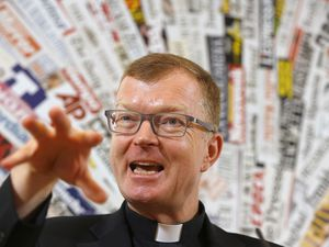 (Domenico Stinellis | AP Photo) Father Hans Zollner, one of the founding members of the Pontifical Commission for the Protection of Minors, speaks during a press conference at the Foreign Press Association headquarters, in Rome, Thursday, Sept. 27, 2018.