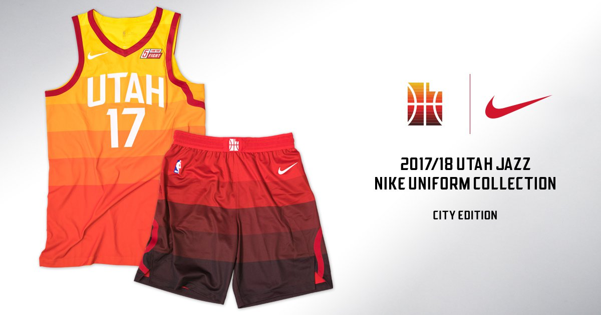 best loved ad241 3fb93 In their new redrock-inspired uniforms, the Utah Jazz are ...
