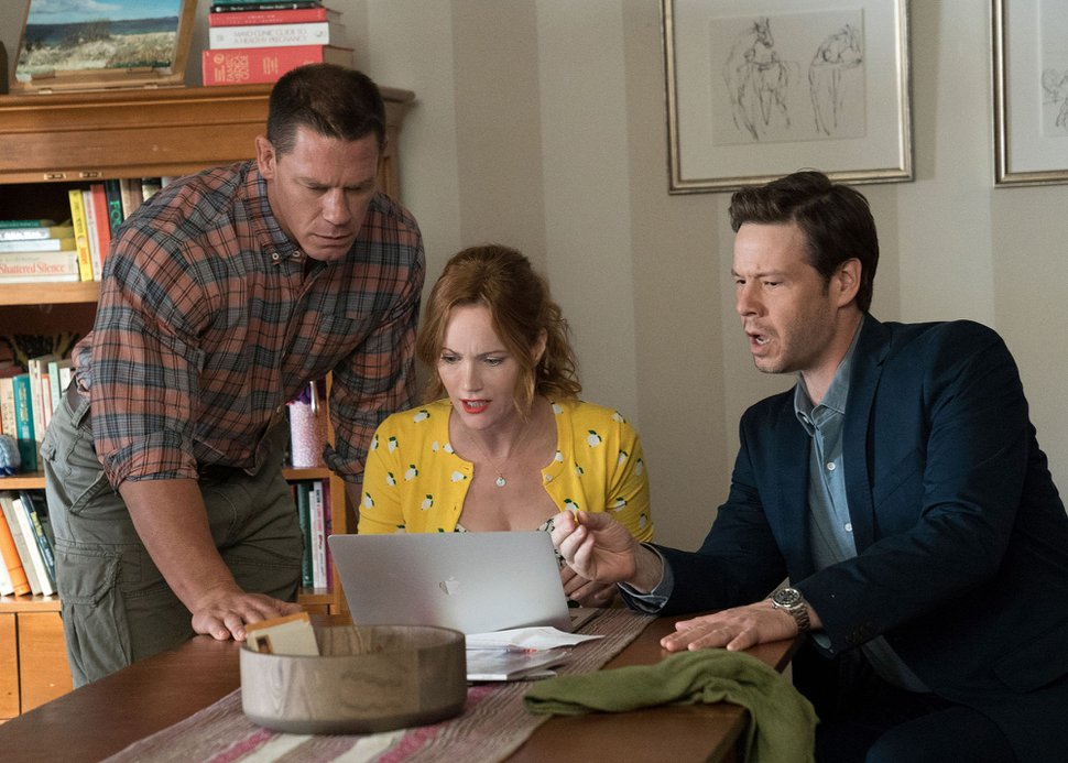 (Quantrell D. Colbert | Universal Pictures) John Cena, from left, Leslie Mann and Ike Barinholtz star in