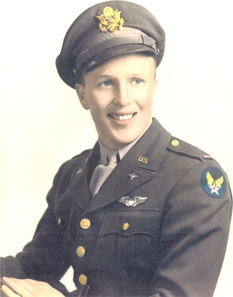 (Courtesy of the Imperial War Museum and the Lonnie Moseley family) 2nd Lt. Lonnie Moseley.