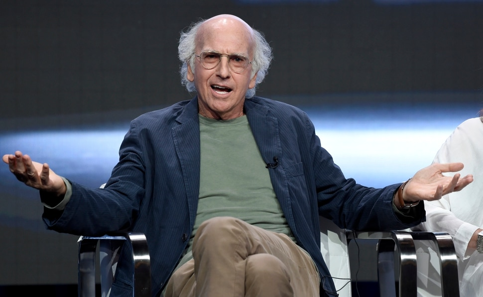 Actor/creator/executive producer Larry David speaks in the