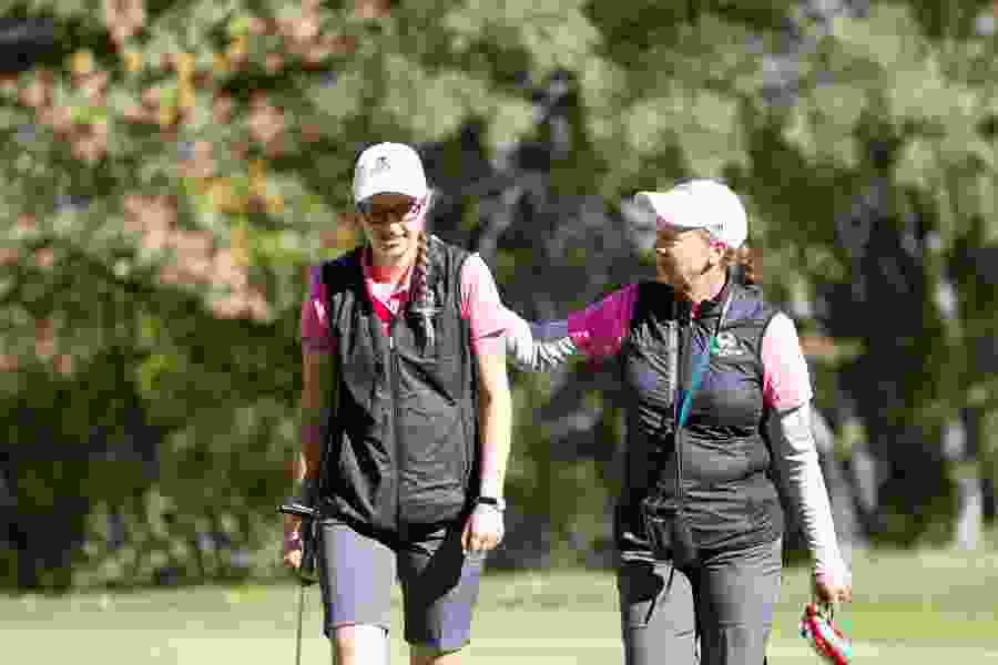 UVU coach Sue Nyhus and Glenwild pro Craig Hocknull will play on golf's big stages