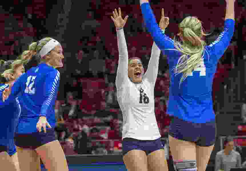 BYU volleyball team sweeps past New Mexico State, faces Utah next in NCAA Tournament