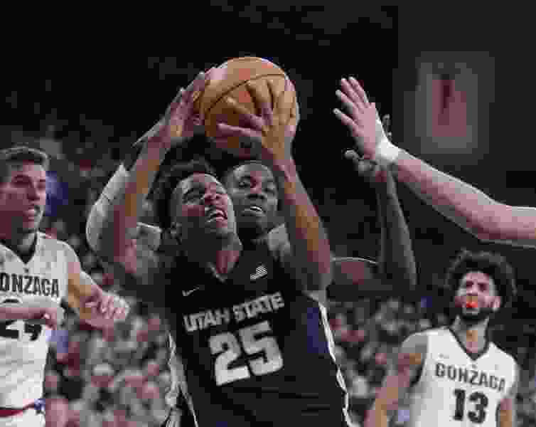 Utah State keeps it tight early before No. 17 Gonzaga goes on to win 79-66