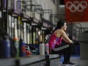 (Leah Hogsten     The Salt Lake Tribune) Dani Aravich is training to join Team USA for Paralympic Track and Field for the summer games in Tokyo in 2020. Aravich works out at the Utah Olympic Oval, Jan. 28, 2019.