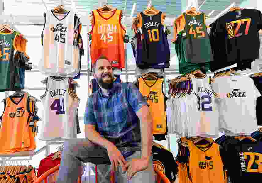 Ben Barnes is the Utah man behind some of sports' most recognizable logos and jerseys — including the Jazz's