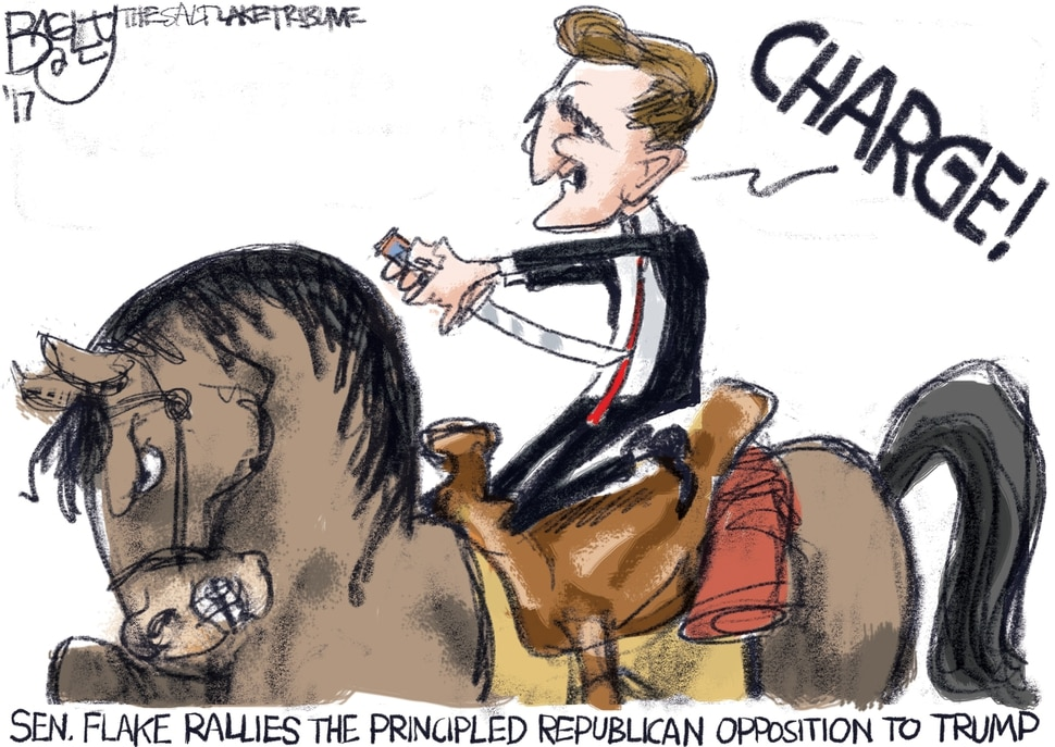 (Pat Bagley | The Salt Lake Tribune) This Pat Bagley cartoon, titled Republicans With Principles, appears in The Salt Lake Tribune on Friday, Oct. 27, 2017.