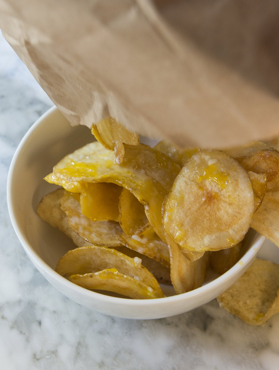 (Leah Hogsten | The Salt Lake Tribune) White Horse Spirits and Kitchen's Egg n' Chips with house potato chips.