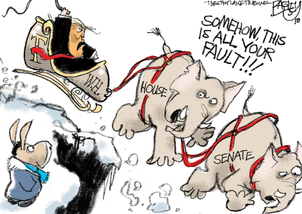 This Pat Bagley cartoon appears in The Salt Lake Tribune on Friday, Dec. 21, 2018.