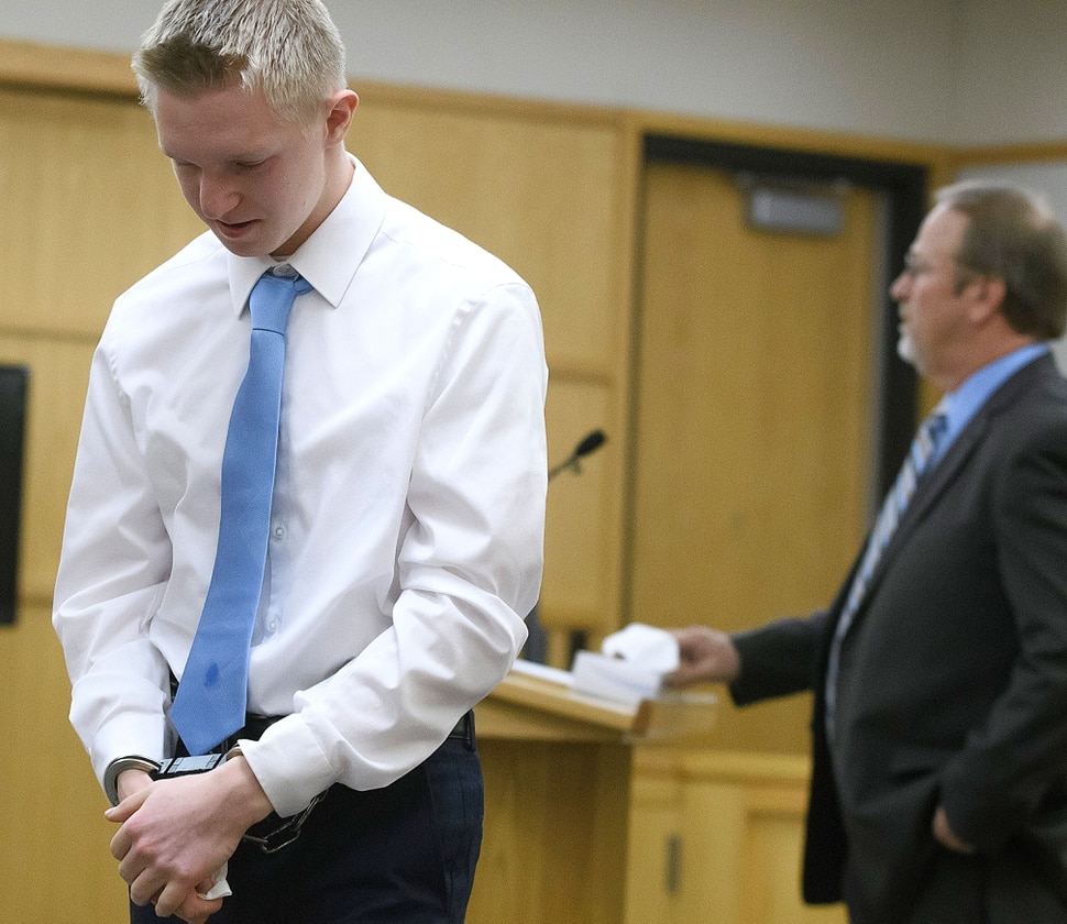 (Eli Lucero   Pool Photo) Jayzon Decker walks back to his seat after speaking during his sentencing hearing for attempted aggravated murder and obstructing justice, Wednesday, Feb. 7, 2018, in Logan, Utah. Decker received a sentence of 15 years to life for planning and being present at the shooting of Deserae Turner in February 2017, and leaving her for dead in a dry irrigation canal in Smithfield, Utah.