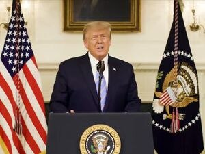 In a video message Jan. 7, 2021, then-President Donald Trump conceded to President-elect Joe Biden. But Trump still maintains that election fraud cost him reelection.