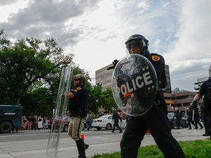 (Francisco Kjolseth  | Tribune file photo) Hundreds become aggressive in downtown Salt Lake City on Saturday, May 30, 2020, to protest the death of George Floyd.