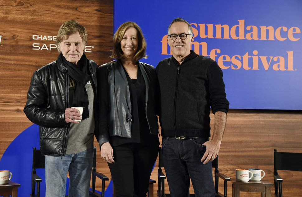 (Chris Pizzello | Invision/AP file photo) Sundance Institute founder Robert Redford, from left, executive director Keri Putnam and Sundance Film Festival program director John Cooper pose together at the opening day press conference of the 2018 Sundance Film Festival on Thursday, Jan. 18, 2018, in Park City.