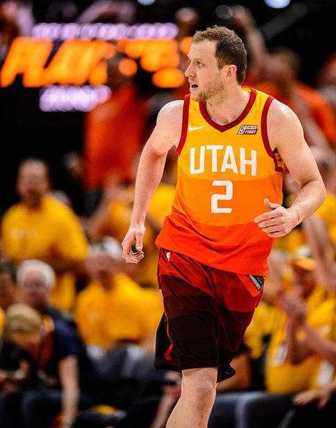 detailed look a37f6 edea2 Joe Ingles finds his shots and helps Jazz pull through in ...