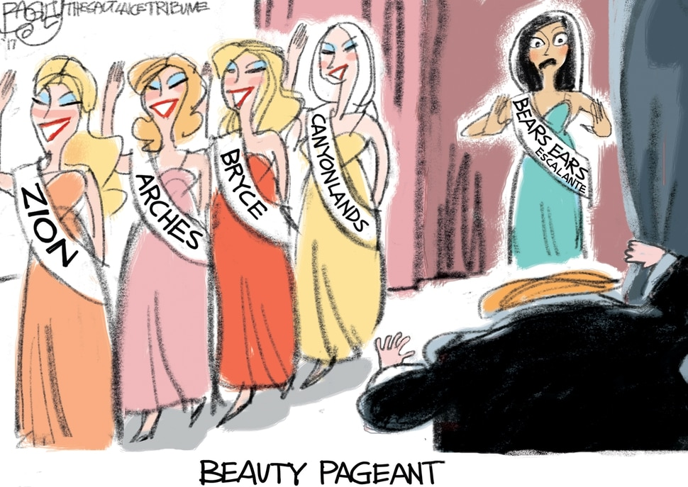 This Pat Bagley cartoon appears in The Salt Lake Tribune on Thursday, Nov. 30, 2017.
