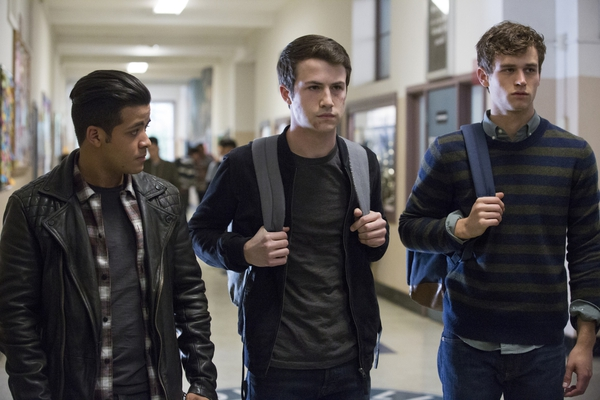 (Associated Press | Beth Dubber, Netflix)This image released by Netflix shows, from left, Christian Navarro, Dylan Minnette and Brandon Flynn in