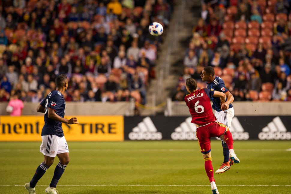 Alex Gallivan | Special to the Tribune Real Salt Lake plays against the New England Revolution Thursday October, 2018