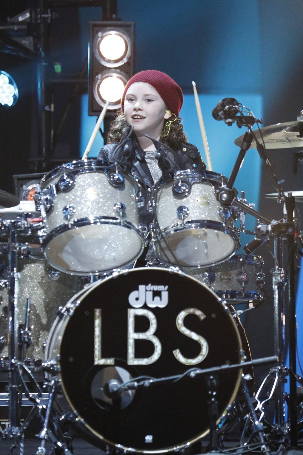 "(Photo by: Evans Vestal Ward/NBC) Utahn Milana Nigro performs on ""Little Big Shots."""