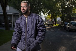 (Leah Hogsten  |  The Salt Lake Tribune)  Josue Rivera Pabon, who says he is still suffering the consequences in the form of unpaid bills, lost wages and health problems after getting coronavirus twice this year from the JBS Beef Plant in Hyrum, poses on Sept. 25, 2020. Rivera resigned from the company in August. According to the Bear River Health Department, 385 JBS employees have tested positive for the coronavirus, which has also said no deaths have been linked to the outbreak.