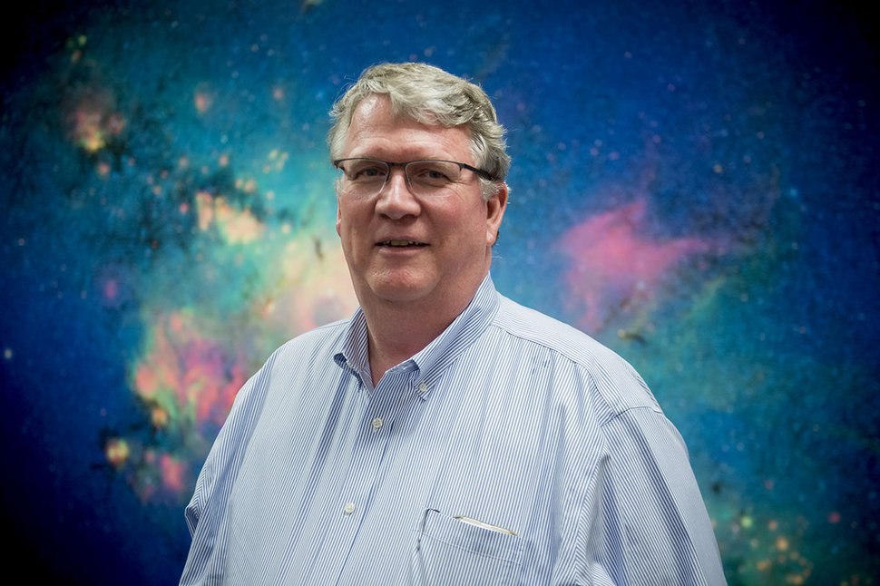 (Jeremy Harmon | The Salt Lake Tribune) Seth Jarvis, the director of Clark Planetarium.