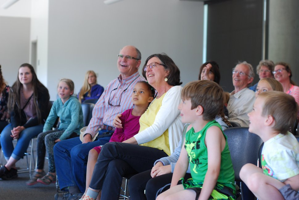 (Sara Tabin | The Salt Lake Tribune) Audience members at Saturday's Hawk Parade.