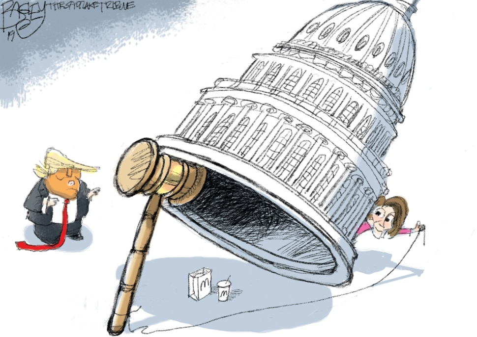 This Pat Bagley cartoon appears in The Salt Lake Tribune on Friday, Jan. 4, 2019.
