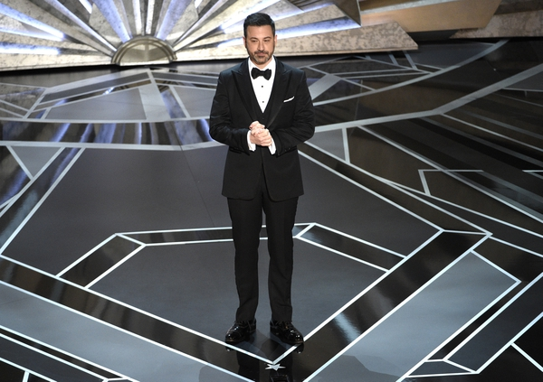 Jimmy Kimmel speaks at the Oscars on Sunday, March 4, 2018, at the Dolby Theatre in Los Angeles. (Photo by Chris Pizzello/Invision/AP)