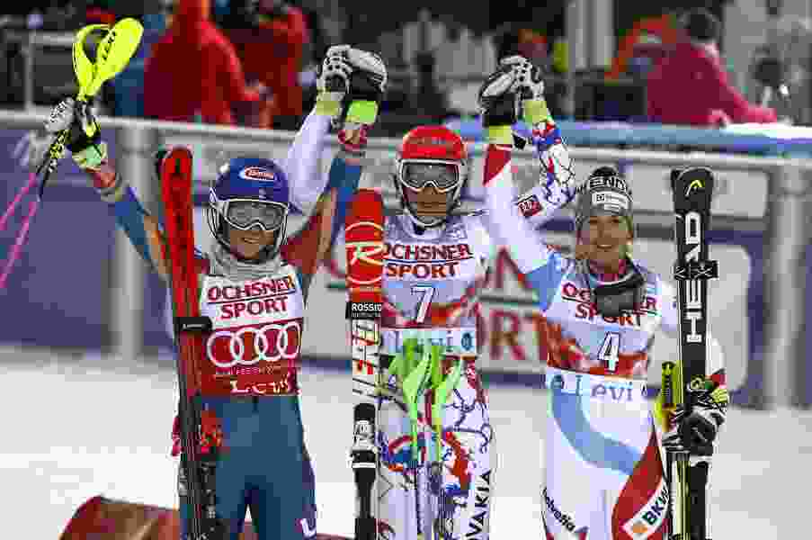 Shiffrin leads World Cup slalom after 1st run