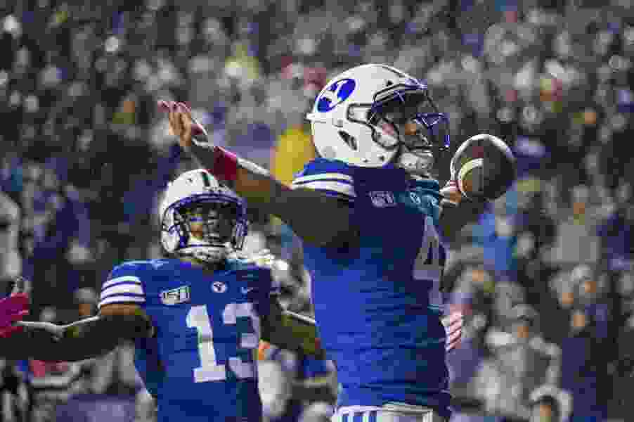 With gutsy 4th-down call, BYU preserves upset of No. 14 Boise State, halting 3-game losing streak