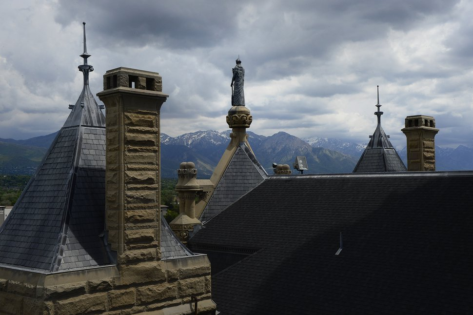 Scott Sommerdorf | The Salt Lake Tribune The view from the roof of the City and County building looking east during a tour of the building, Thursday, May 26, 2016.