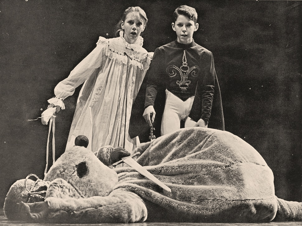 """Photo courtesy Ballet West) Peggy Scott and Duffy Clawson in the 1966 production of """"The Nutcracker."""""""