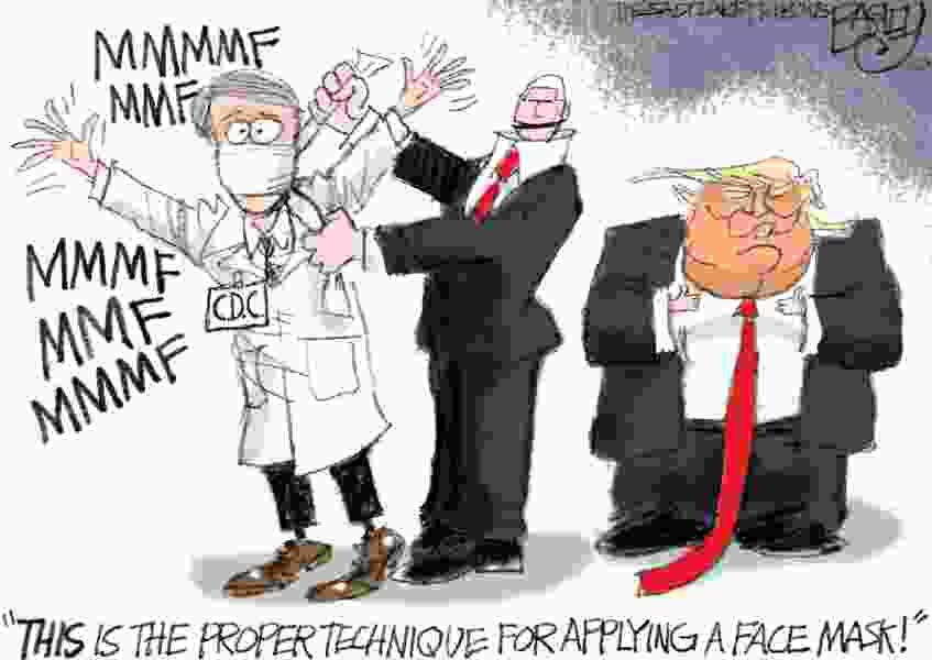 Bagley Cartoon: Face Mask the Nation