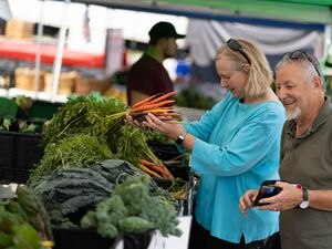 (Francisco Kjolseth   The Salt Lake Tribune) The Murray Farmer's Market, the longest running farmers market in the state, draws the crowds to Murray Park on Saturday, Aug. 7, 2021.