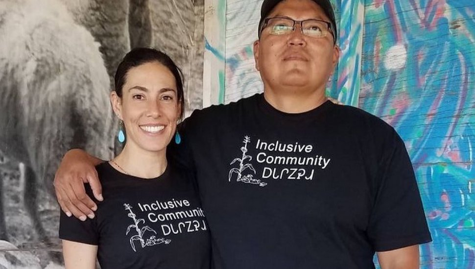 (Courtesy of Daisy Purdy) Daisy Purdy (left) recently roller skated from Arizona to North Carolina to raise money for Rock's research into potential links between water quality and COVID-19 on the Navajo Nation.
