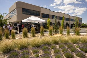 (Rick Egan   The Salt Lake Tribune) Gov. Cox announces the launch of the Water Champion H2Oath, a pledge for businesses to publicly commit to water conservation and water-wise practices, during a news conference at Merit Medical in South Jordan, Monday, June 28, 2021.
