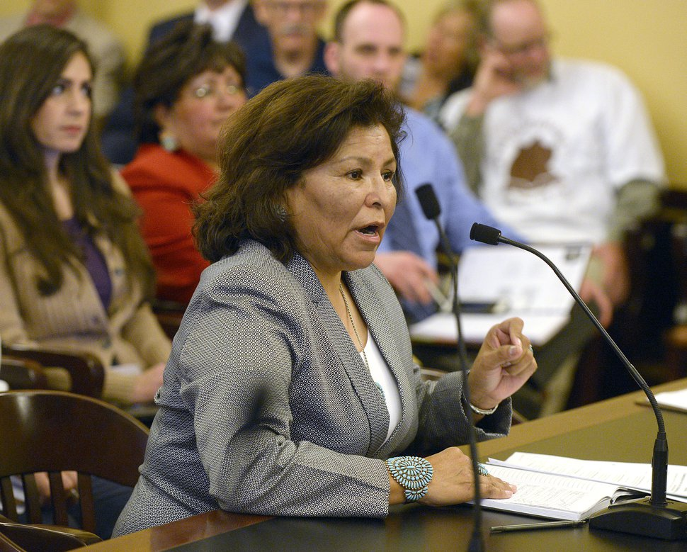 Al Hartmann | Tribune file photo) San Juan County County Commissioner Rebecca Benally, a Navajo tribal member and opponent to President Barack Obama's original declaration of the Bears Ears National Monument.