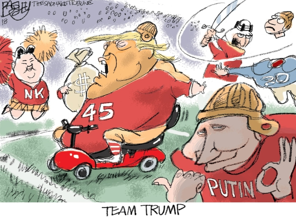 (Pat Bagley | The Salt Lake Tribune) This cartoon by Pat Bagley titled Team Trump appears in The Salt Lake Tribune on Sunday, Nov. 25, 2018.